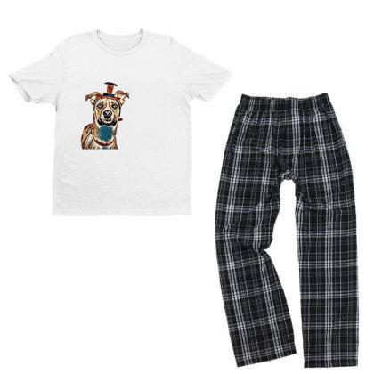 Closeup Of Large Breed Dog We Youth T-shirt Pajama Set Designed By Kemnabi