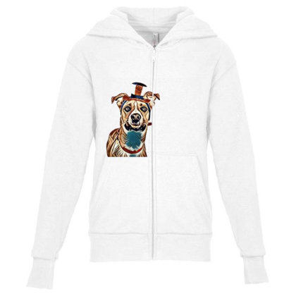 Closeup Of Large Breed Dog We Youth Zipper Hoodie Designed By Kemnabi