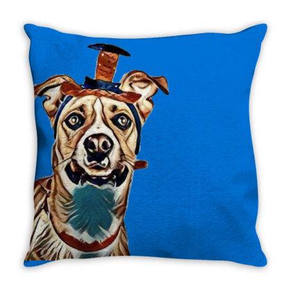 Closeup Of Large Breed Dog We Throw Pillow Designed By Kemnabi