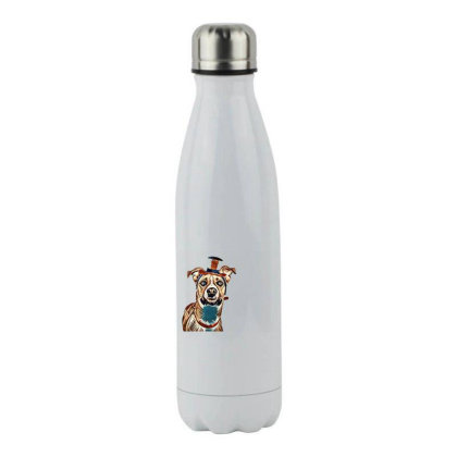 Closeup Of Large Breed Dog We Stainless Steel Water Bottle Designed By Kemnabi