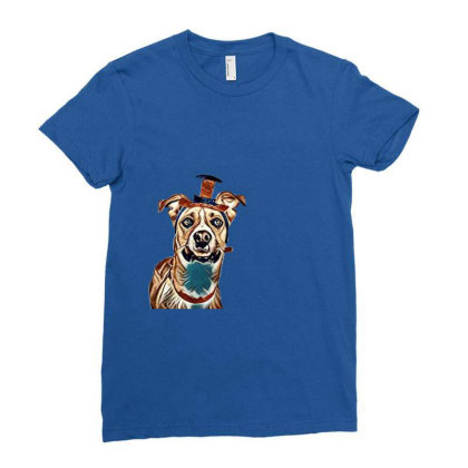 Closeup Of Large Breed Dog We Ladies Fitted T-shirt Designed By Kemnabi