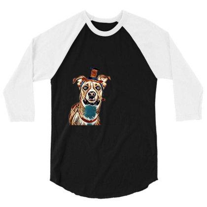 Closeup Of Large Breed Dog We 3/4 Sleeve Shirt Designed By Kemnabi