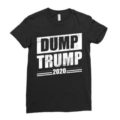 Dump Trump 2020 Funny Anti Trump T Shirt T Shirt Funny Cotton Tee Gift Ladies Fitted T-shirt Designed By G3ry