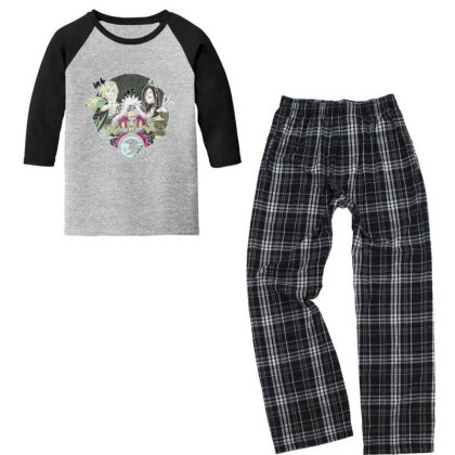 Anime Youth 3/4 Sleeve Pajama Set Designed By Disgus_thing
