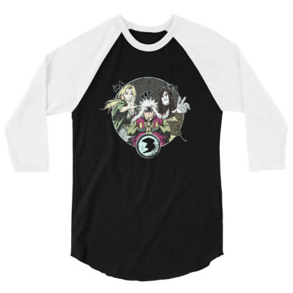 Anime 3/4 Sleeve Shirt Designed By Disgus_thing