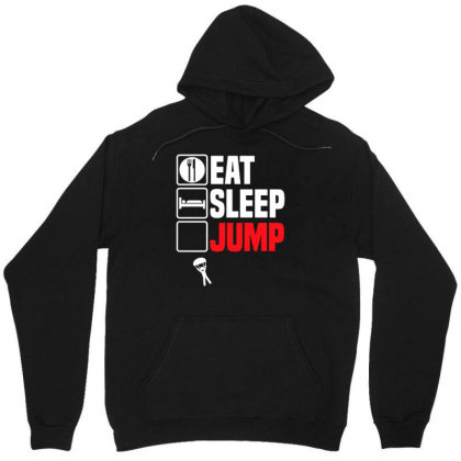 Eat Sleep Jump Repeat T Shirt Funny Sky Dive Parachute Son Dad Christm Unisex Hoodie Designed By G3ry