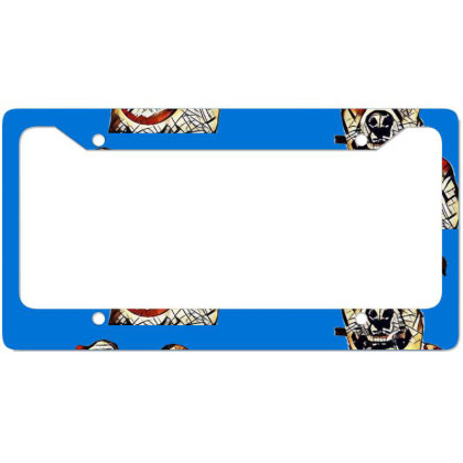 Closeup Of Face Of Happy Tan License Plate Frame Designed By Kemnabi
