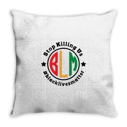 Black Lives Matter Stop Killing Us Throw Pillow Designed By Qudkin