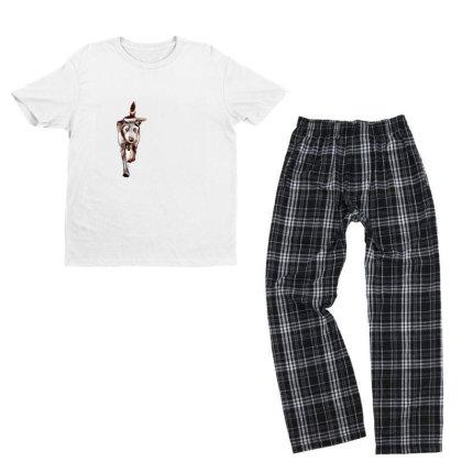 Terrier Dog Running In Yard W Youth T-shirt Pajama Set Designed By Kemnabi