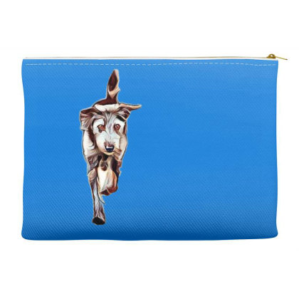 Terrier Dog Running In Yard W Accessory Pouches Designed By Kemnabi