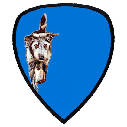Terrier Dog Running In Yard W Shield S Patch Designed By Kemnabi