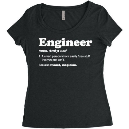 Engineer Dictionary T Shirt Funny Chemical Gas Electrical Son Dad Chri Women's Triblend Scoop T-shirt Designed By G3ry