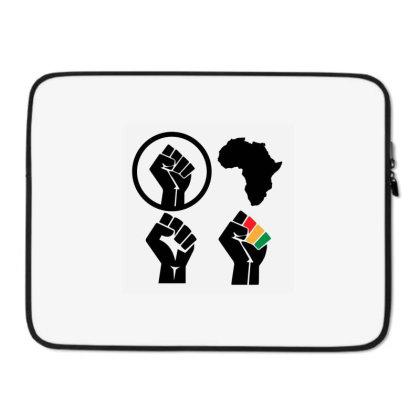 Black Power Laptop Sleeve Designed By Qudkin