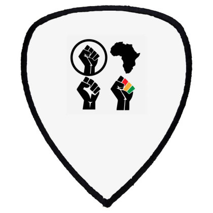 Black Power Shield S Patch Designed By Qudkin