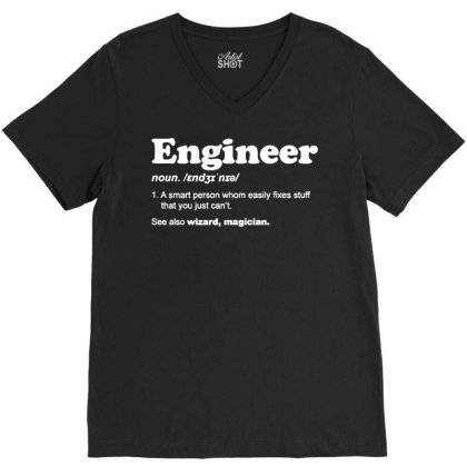 Engineer Dictionary T Shirt Funny Chemical Gas Electrical Son Dad Chri V-neck Tee Designed By G3ry