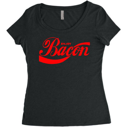 Enjoy Bacon Mens T Shirt Cool Funny Design Gift Present Idea Dad New T Women's Triblend Scoop T-shirt Designed By G3ry