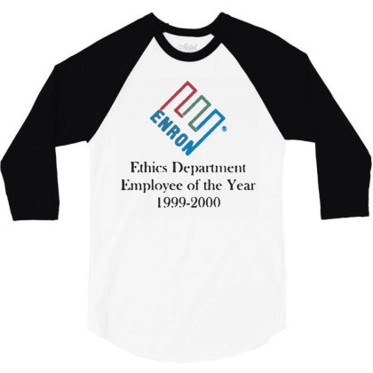 Enron T Shirt Funny Birthday Cotton Tee Vintage Gift 3/4 Sleeve Shirt Designed By G3ry