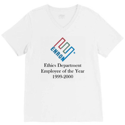 Enron T Shirt Funny Birthday Cotton Tee Vintage Gift V-neck Tee Designed By G3ry