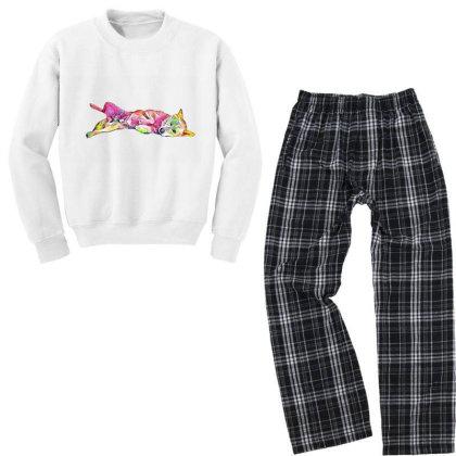 Shy And Submissive Large Mixe Youth Sweatshirt Pajama Set Designed By Kemnabi