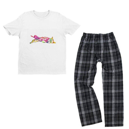 Shy And Submissive Large Mixe Youth T-shirt Pajama Set Designed By Kemnabi