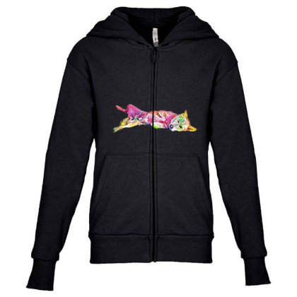 Shy And Submissive Large Mixe Youth Zipper Hoodie Designed By Kemnabi