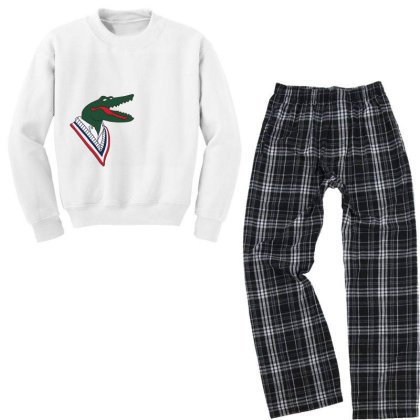Crocodile Youth Sweatshirt Pajama Set Designed By Disgus_thing