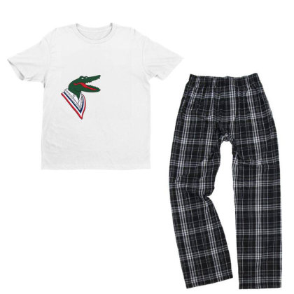 Crocodile Youth T-shirt Pajama Set Designed By Disgus_thing