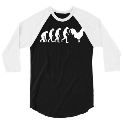 Evolution Of Big Cock Tshirt T Shirt Xl Xxl Xxxl Cockrel Chicken Funny 3/4 Sleeve Shirt Designed By G3ry