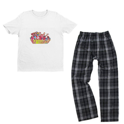 Fur Cute Mixed Breed Puppies Youth T-shirt Pajama Set Designed By Kemnabi