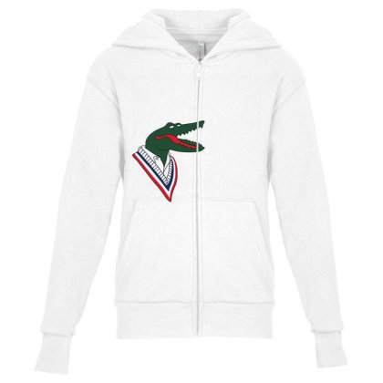 Crocodile Youth Zipper Hoodie Designed By Disgus_thing