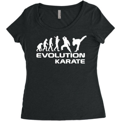 Evolution Of Karate Martial Arts Funny Adult Mens T Shirt Birthday Gif Women's Triblend Scoop T-shirt Designed By G3ry