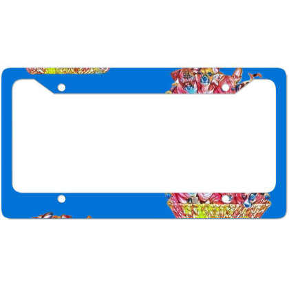 Fur Cute Mixed Breed Puppies License Plate Frame Designed By Kemnabi