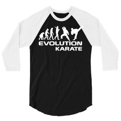 Evolution Of Karate Martial Arts Funny Adult Mens T Shirt Birthday Gif 3/4 Sleeve Shirt Designed By G3ry