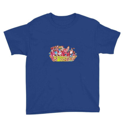 Fur Cute Mixed Breed Puppies Youth Tee Designed By Kemnabi
