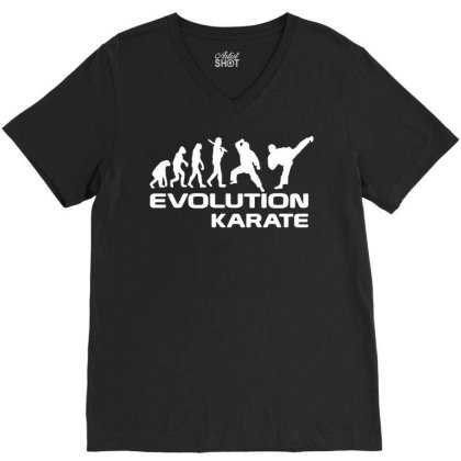Evolution Of Karate Martial Arts Funny Adult Mens T Shirt Birthday Gif V-neck Tee Designed By G3ry