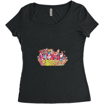 Fur Cute Mixed Breed Puppies Women's Triblend Scoop T-shirt Designed By Kemnabi