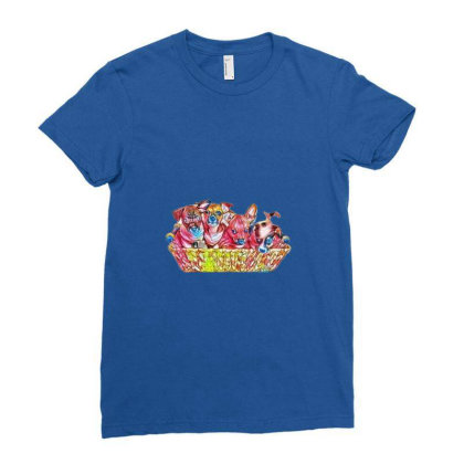 Fur Cute Mixed Breed Puppies Ladies Fitted T-shirt Designed By Kemnabi
