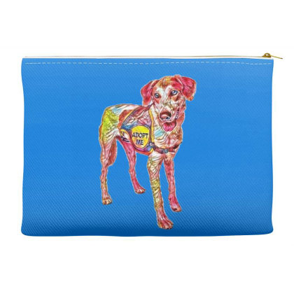 Large Rescue Dog Wearing Adop Accessory Pouches Designed By Kemnabi