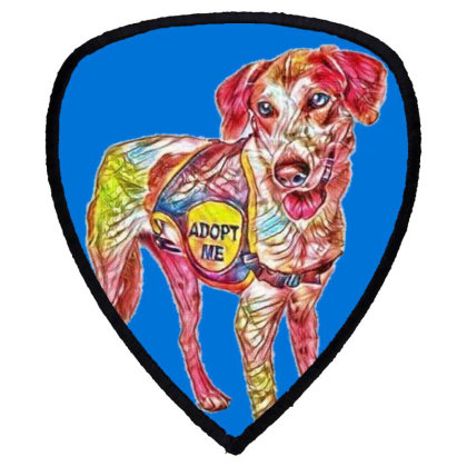 Large Rescue Dog Wearing Adop Shield S Patch Designed By Kemnabi