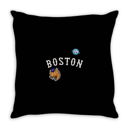 Boston Throw Pillow Designed By Disgus_thing