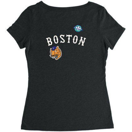 Boston Women's Triblend Scoop T-shirt Designed By Disgus_thing