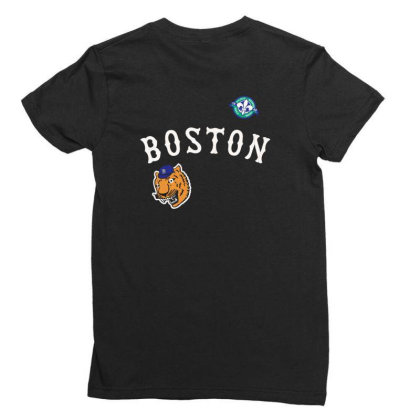 Boston Ladies Fitted T-shirt Designed By Disgus_thing