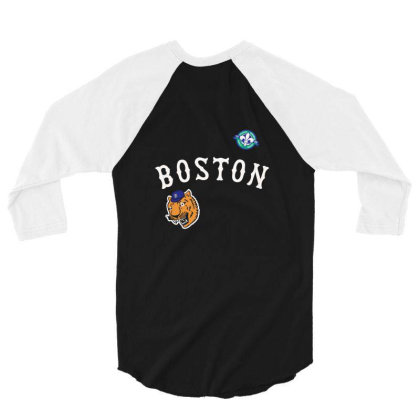 Boston 3/4 Sleeve Shirt Designed By Disgus_thing