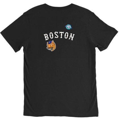 Boston V-neck Tee Designed By Disgus_thing