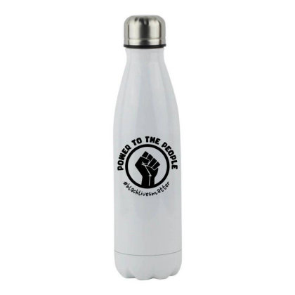 Power To The People Stainless Steel Water Bottle Designed By Qudkin