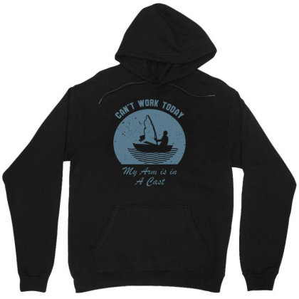 Fishing Can't Work Today My Arm Is In A Cast Funny Tee Men's T Shirt Unisex Hoodie Designed By G3ry