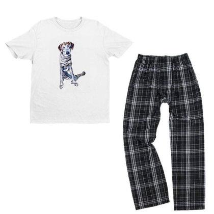 Lonely Large Crossbreed Dog W Youth T-shirt Pajama Set Designed By Kemnabi