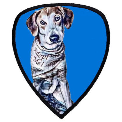 Lonely Large Crossbreed Dog W Shield S Patch Designed By Kemnabi