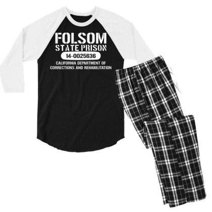Folsom Prison T Shirt   Funny T Shirt Retro Country Fashion Cash Blues Men's 3/4 Sleeve Pajama Set Designed By G3ry