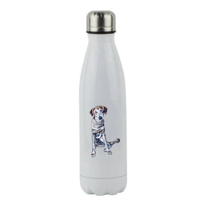 Lonely Large Crossbreed Dog W Stainless Steel Water Bottle Designed By Kemnabi